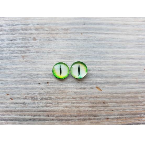 Glass eyes Green 3, ~ Ø 0.8 cm