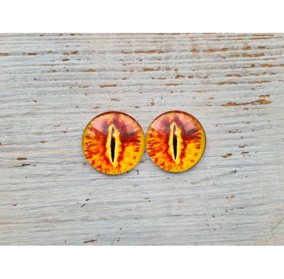 Glass eyes Orange 2, ~ Ø 3 cm