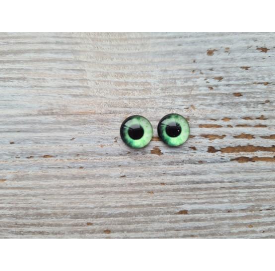 Glass eyes Green 12, ~ Ø 1 cm