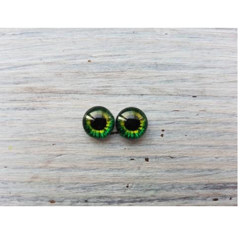 Glass eyes Green 8, ~ Ø 0.8 cm