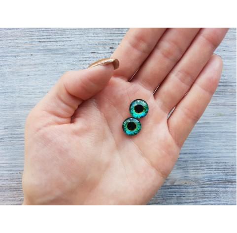Glass eyes Green 4, ~ Ø 1.2 cm