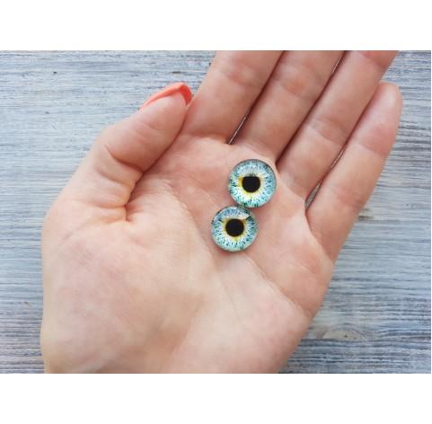 Glass eyes Blue 1, ~ Ø 1.6 cm