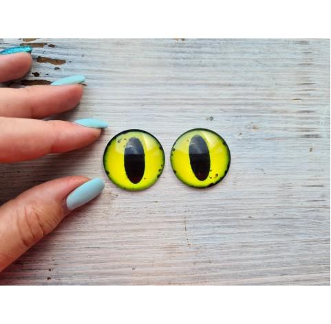 Glass eyes Yellow 2, ~ Ø 3 cm