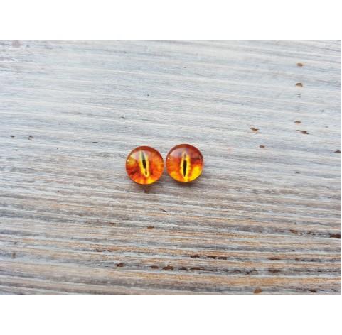 Glass eyes Orange 4, ~ Ø 1 cm