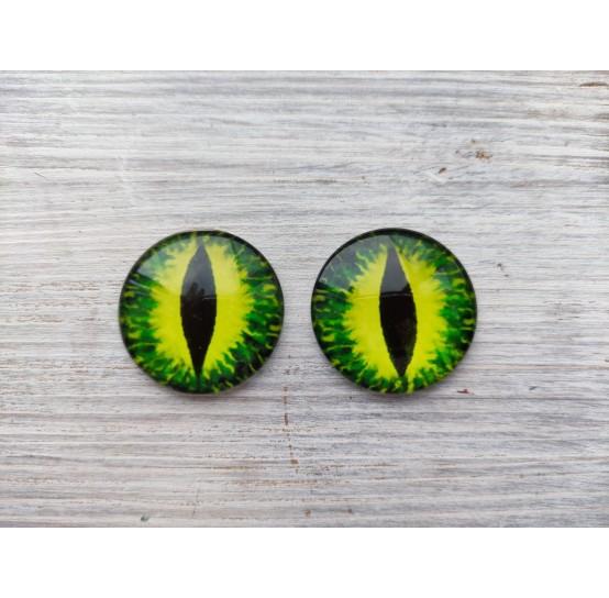 Glass eyes Green 3, ~ Ø 3 cm