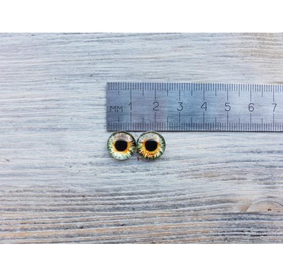 Glass eyes Brown 2, ~ Ø 1.2 cm