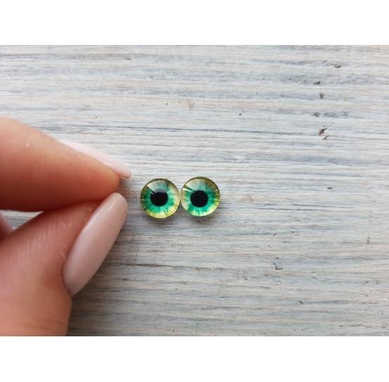 Glass eyes Green 6, ~ Ø 0.8 cm