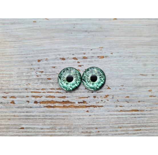Glass eyes Green 2, ~ Ø 1.2 cm