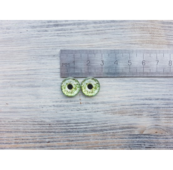 Glass eyes Green 2, ~ Ø 1.4 cm