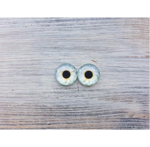 Glass eyes Blue 1, ~ Ø 1.8 cm