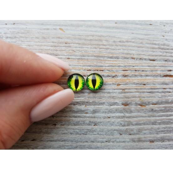 Glass eyes Green 4, ~ Ø 0.8 cm