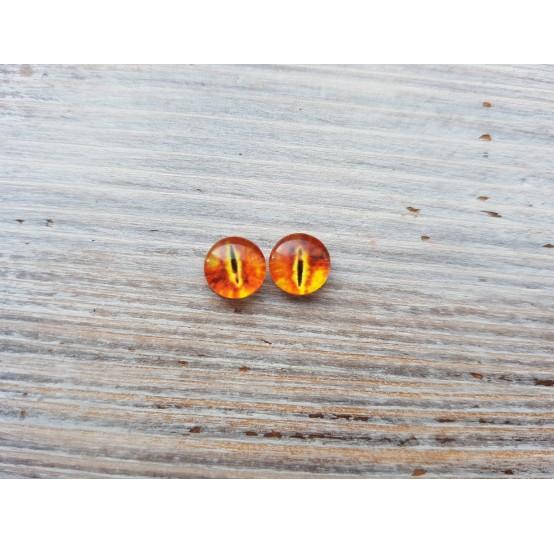 Glass eyes Orange 2, ~ Ø 1,2 cm