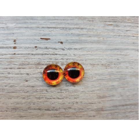 Glass eyes Orange 1, ~ Ø 1 cm