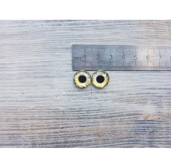 Glass eyes Green 3, ~ Ø 1.4 cm