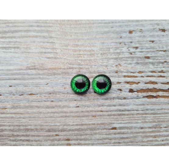 Glass eyes Green 13, ~ Ø 1 cm