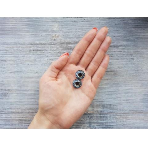 Glass eyes Blue 4, ~ Ø 1.6 cm