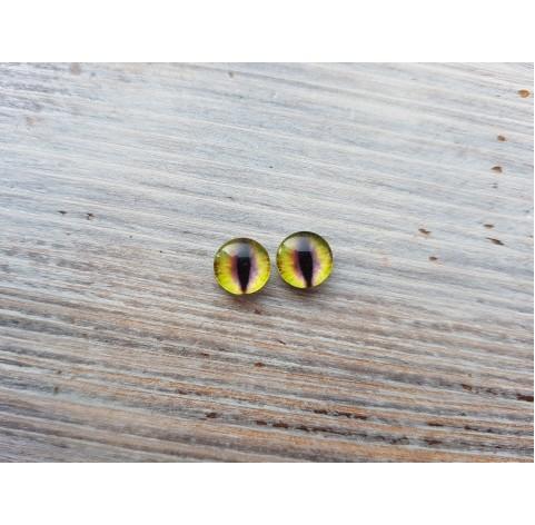 Glass eyes Yellow 9, ~ Ø 1 cm