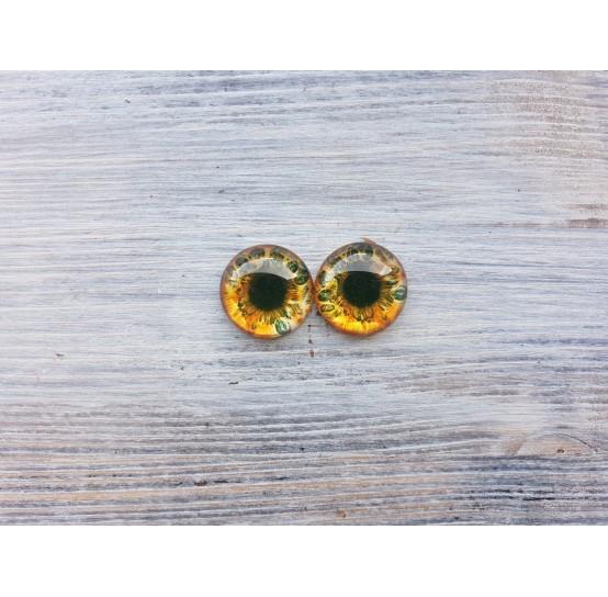 Glass eyes Brown 1, ~ Ø 1.4 cm
