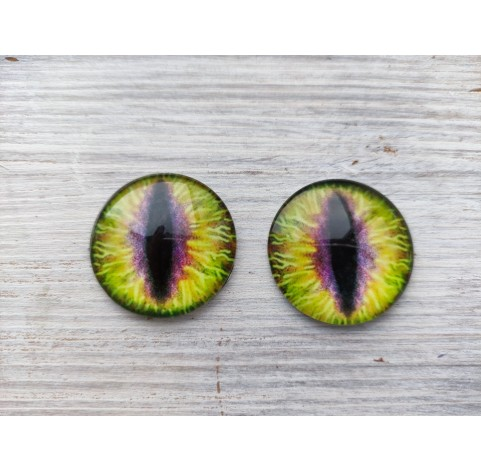 Glass eyes Yellow 1, ~ Ø 3 cm