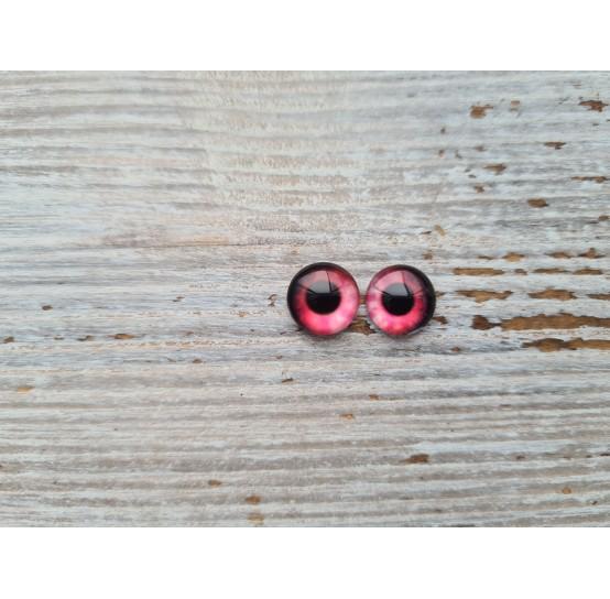 Glass eyes Pink 4, ~ Ø 1 cm