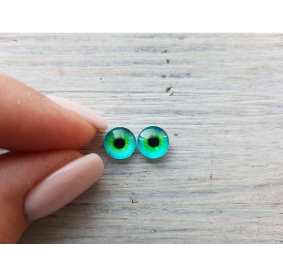 Glass eyes Green 5, ~ Ø 0.8 cm