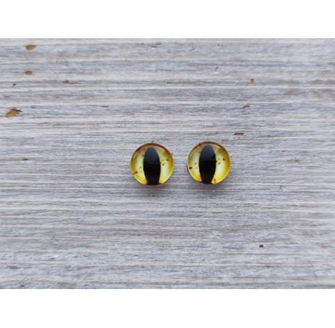 Glass eyes Yellow 6, ~ Ø 1 cm