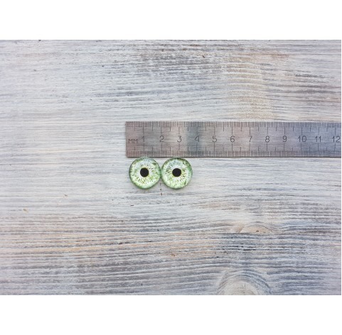 Glass eyes Green 2, ~ Ø 1.8 cm