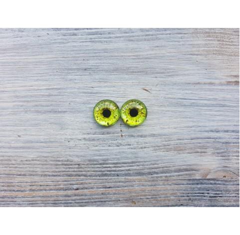Glass eyes Green 1, ~ Ø 1.4 cm