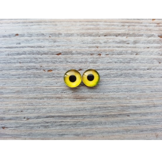 Glass eyes Yellow 3, ~ Ø 0.8 cm