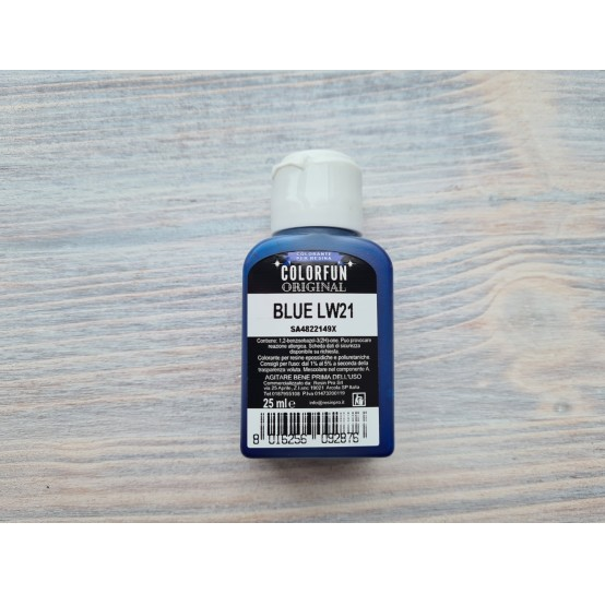 Dye for epoxy resins Colorfun Original, blue, 25 ml