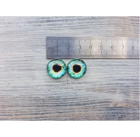 Glass eyes Green 4, ~ Ø 1.8 cm