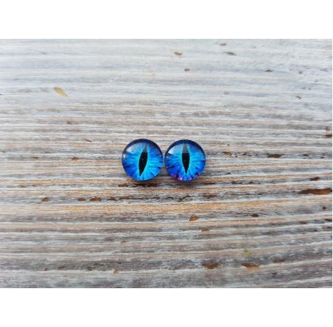 Glass eyes Blue 15, ~ Ø 1 cm