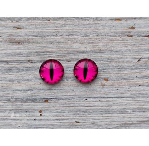 Glass eyes Pink 1, ~ Ø 1 cm