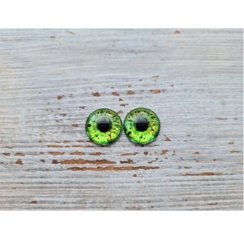 Glass eyes Green 1, ~ Ø 1.2 cm