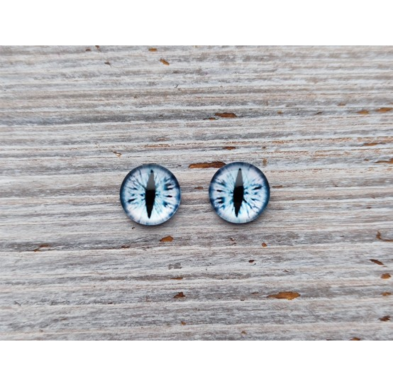 Glass eyes White 3, ~ Ø 1 cm