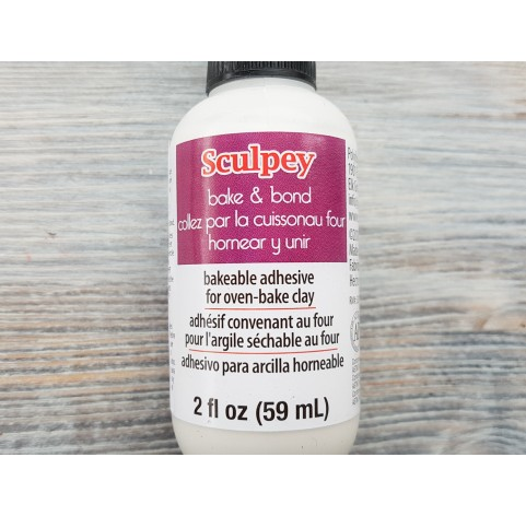 Heat treatment adhesive for polymer clay Sculpey, Bake and Bond, 59 ml
