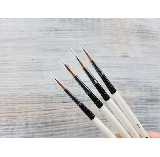 "GRADUATE synthetic brush ""Round"" No.1, round, short handle, size 1.7*10.3 mm"