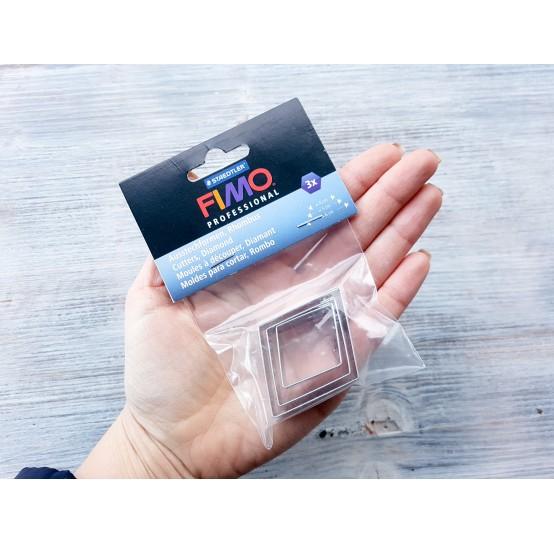 "Set of metal cutters Fimo ""Diamond"", 3 pcs., 4 cm, 5 cm, 6 cm"