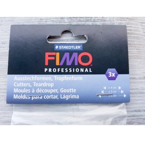"""Set of metal cutters Fimo """"Drop"""", 3 pcs., 4 cm, 5 cm, 6 cm"""