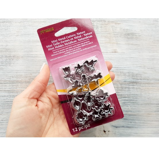 """Set of metal cutters, for cutting plastic pearls """"Nature"""" 12 pcs., 1.2*1.2-1.4*2.3 cm"""