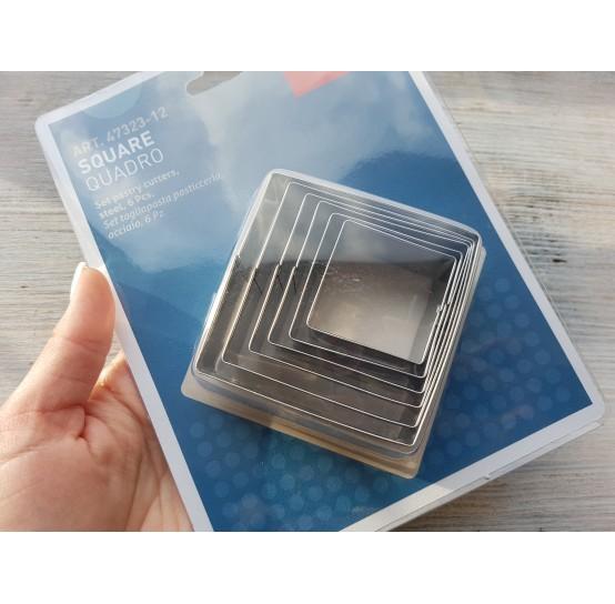 Set of cutters, Squares, 6 pcs., 3.5-7 cm