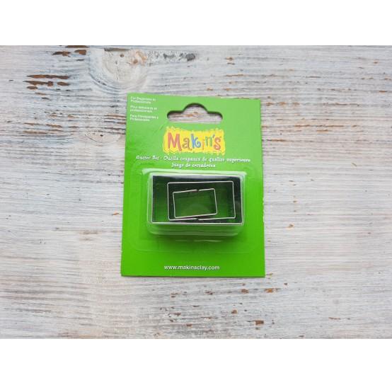 Set of metal cutters Makins, rectangle, 3 pcs., 1*2 cm, 1.7*3 cm, 2.3*4 cm