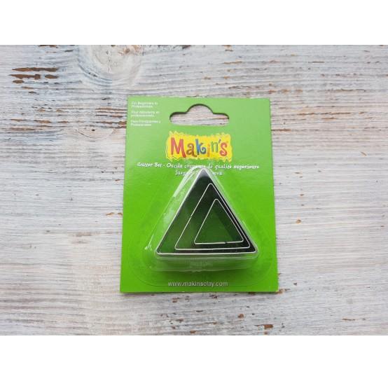 Set of metal cutters Makins, triangle, 3 pcs., 2 cm, 3 cm, 4 cm