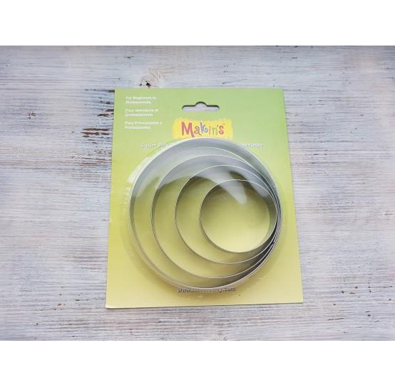 Set of metal cutters Makins, circle, 4 pcs.