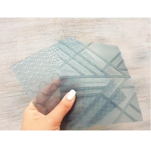 Sculpey flexible texture sheets, Geometric, 7 motifs