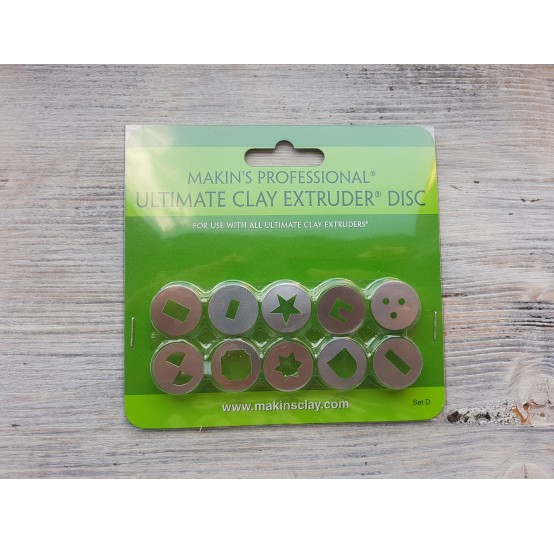 Makin's Professional Ultimate Clay Extruder Discs, 10 pcs.