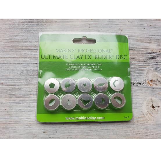 Makin's Professional Ultimate Clay Extruder Discs, 10 pcs., Set B