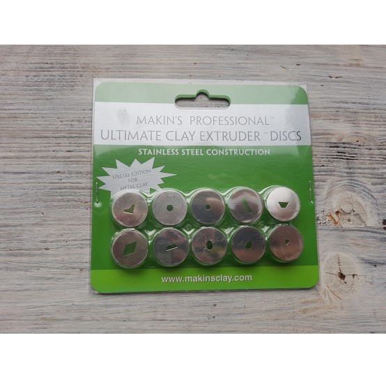 Makin's Professional Ultimate Clay Extruder Discs, 10 pcs., Special Edition