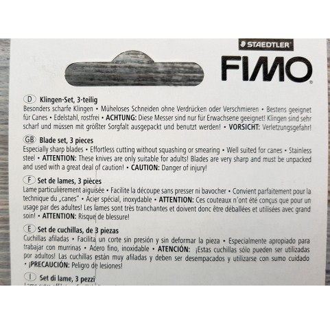 Fimo Staedtler blades for modeling clay, 3 pcs., No.870014