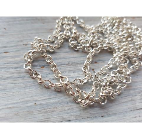 Chain, white gold, 1 m